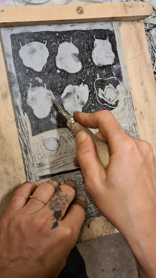 GRAFIK - linoleum og ætsning